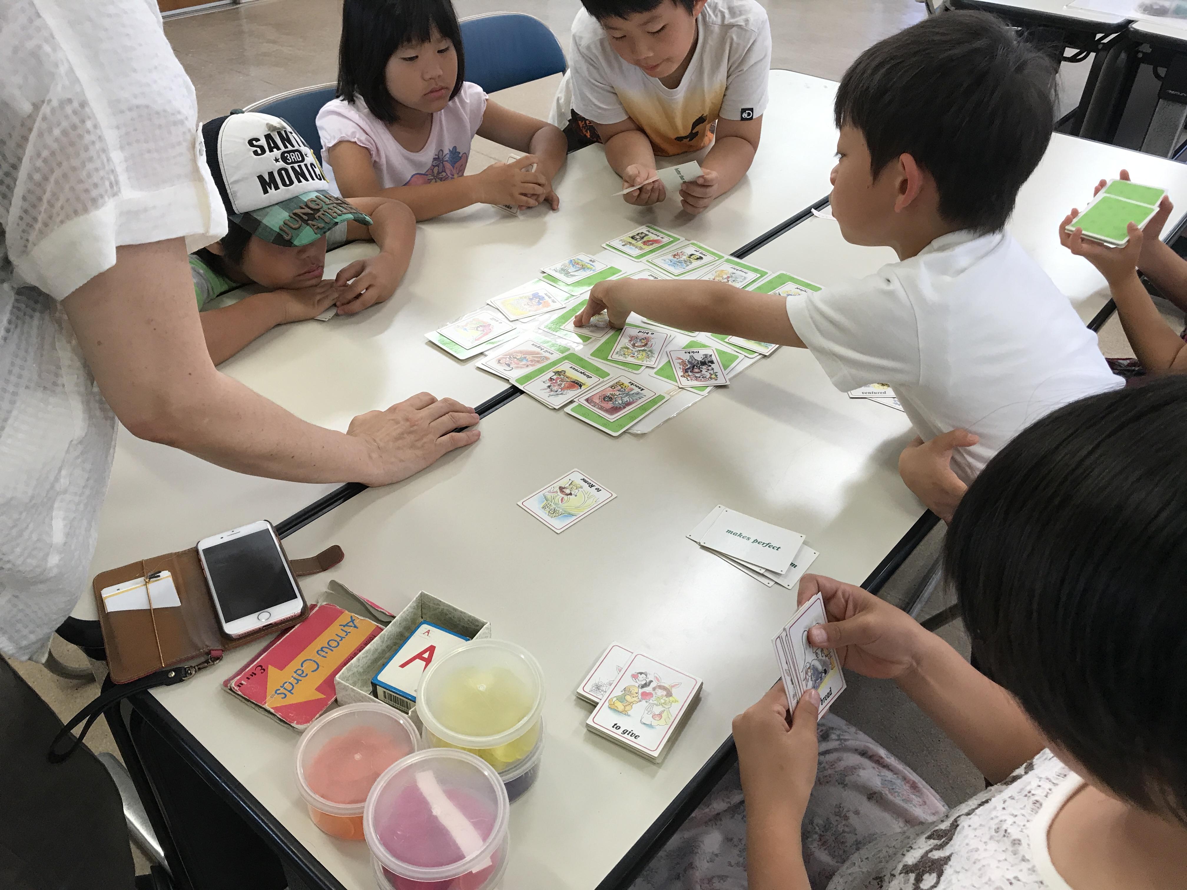 『ことわざ英語かるた』+「前置詞うさぎver.」with「アローカード」