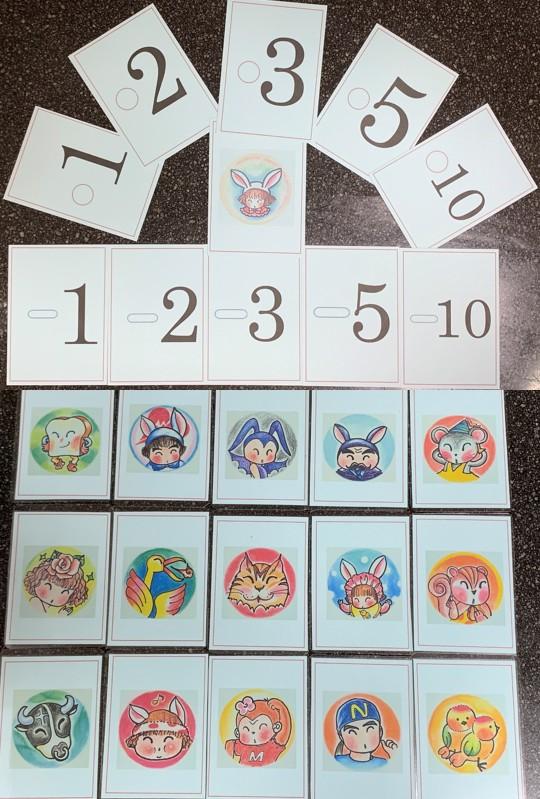 かるたに登場するキャラクター達のカード♪ゲームで使いますV(^_-)