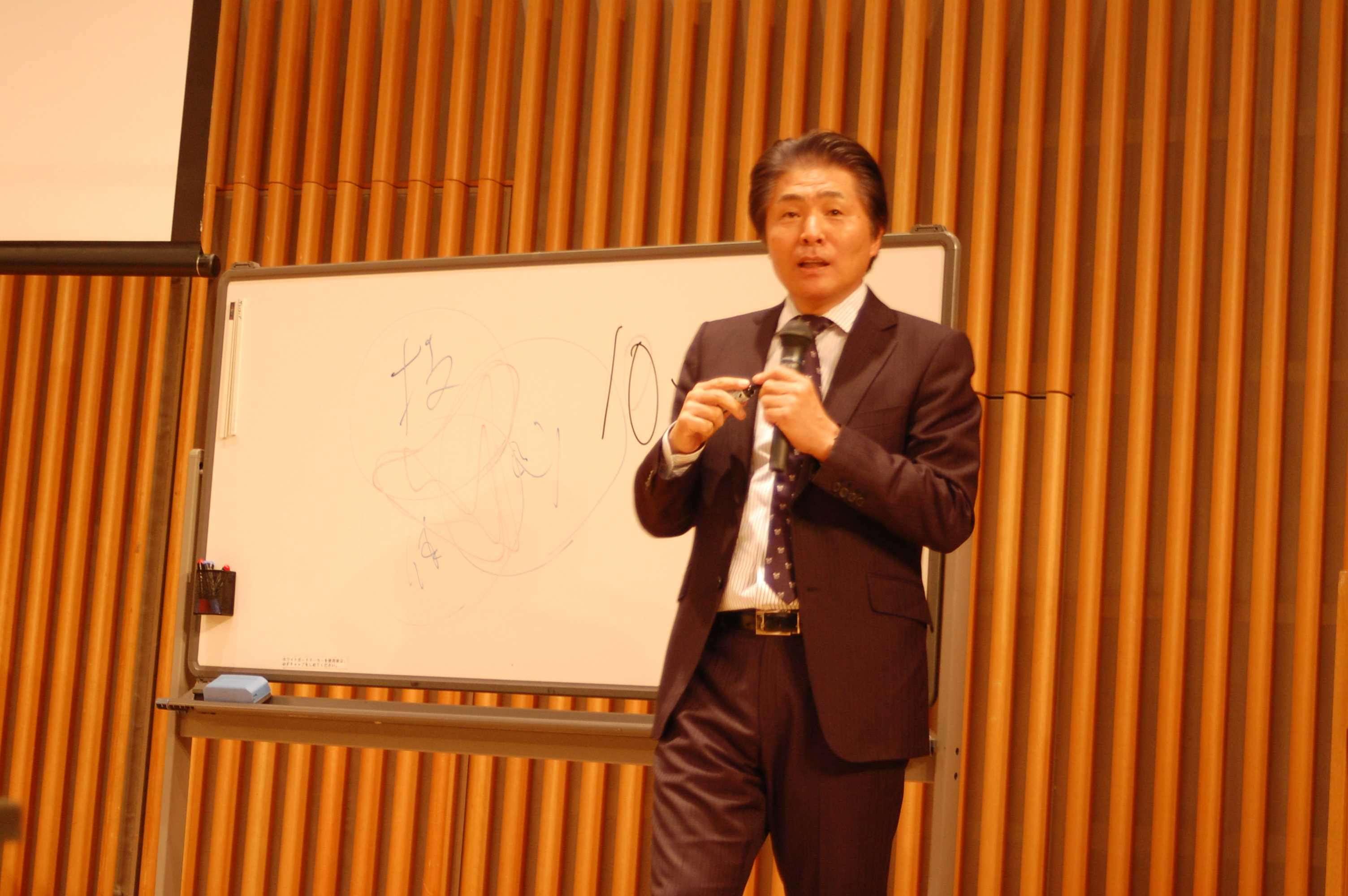 写真:講師の山本昌邦氏